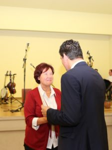 Dr. Ingrid Riedel, Kitzen Initiativpreis Leben im Dorf Foto: Landratsamt Landkreis Leipzig