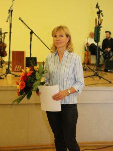 Dr. Andrea Berndt Für Greifenhain e.V. Initiativpreis Leben im Dorf Foto: Landkreis Leipzig