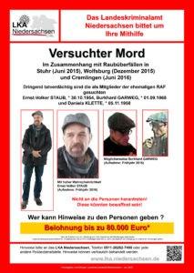 Fahndungsplakat des Landeskriminalamt Niedersachsen