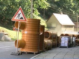 Bauarbeiten der Wurzener Straße