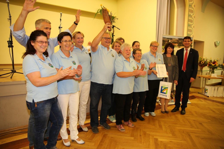 Dorfwettbewerb 1. Platz für Fremdiswalde Foto: Landkreis Leipzig
