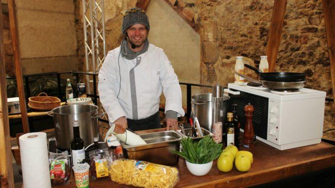Koch Robby Höhme verarbeitet die Produkte aus der Region. Foto: Stadt Grimma