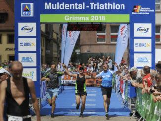 Zieleinlauf im Team-Triathlon 2018, Foto: Sports Live Bischoff