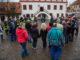 Bürger treffen sich mit dem OBM auf dem Grimmaer Marktplatz für den Subbotnik