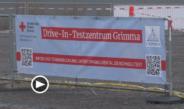 Schnelltest-Zentrum als Drive-In in Grimma