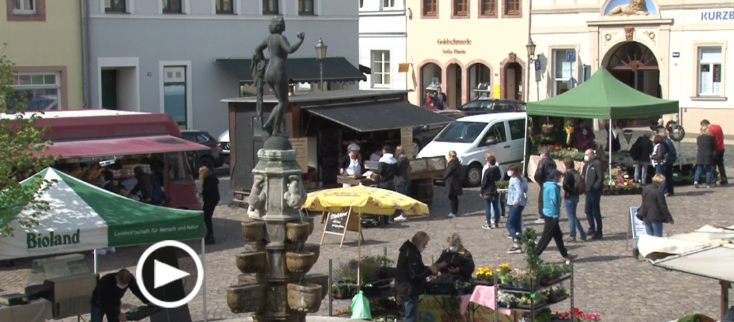 Frischemarkt lockt mit Zusatzangebot auf den Grimmaer Markt